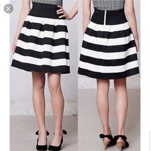 Anthropologie Girls Savoy Striped mini skirt xs
